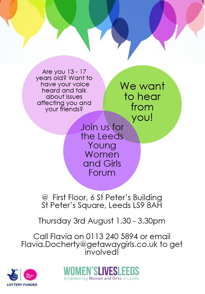 New date for first Young Women & Girls Forum ⋆ Women's Lives Leeds